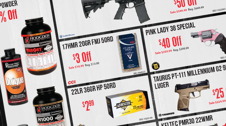 February Firearms Sale Graphic