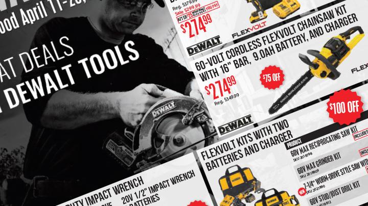 DeWalt April Sale Graphic
